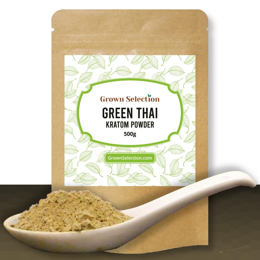 Green Thai Kratom Powder, 500g