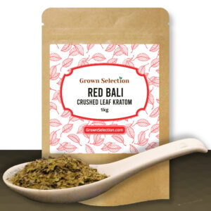 Red Bali Crushed Leaf Kratom, 1kg