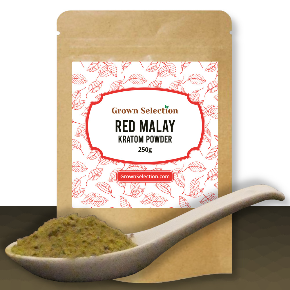 Red Malay Kratom Powder, 250g