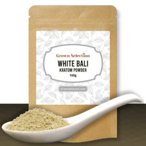 white bali kratom powder, 100g