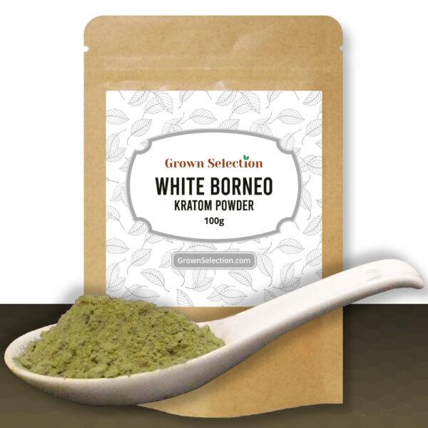 White Borneo Kratom Powder, 100g