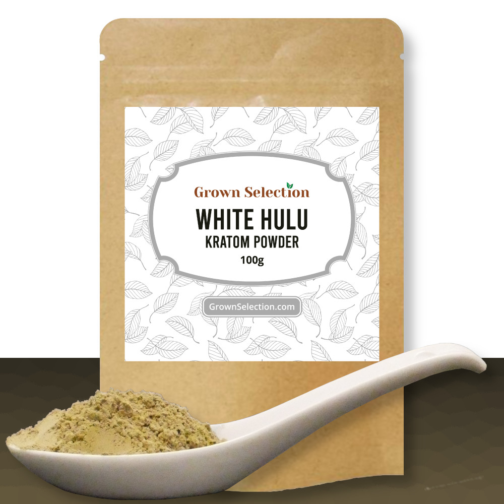 White Hulu kratom powder, 100g