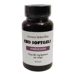 25mg CBD, 1mg melatonin softgels, 30 count
