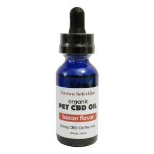 bacon flavored CBD oil for pets, 250mg, 30ml