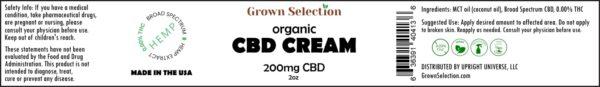 CBD cream, 200mg