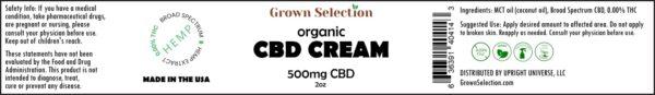 CBD cream, 500mg
