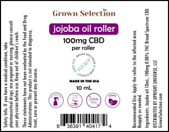 CBD Jojoba roller, 10mL, 100mg