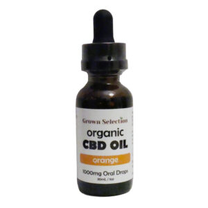 orange CBD oil tincture, 1000mg, 30ml