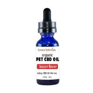 CBD pet oil, bacon flavor