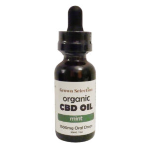 mint CBD oil tincture, 1500mg, 30ml