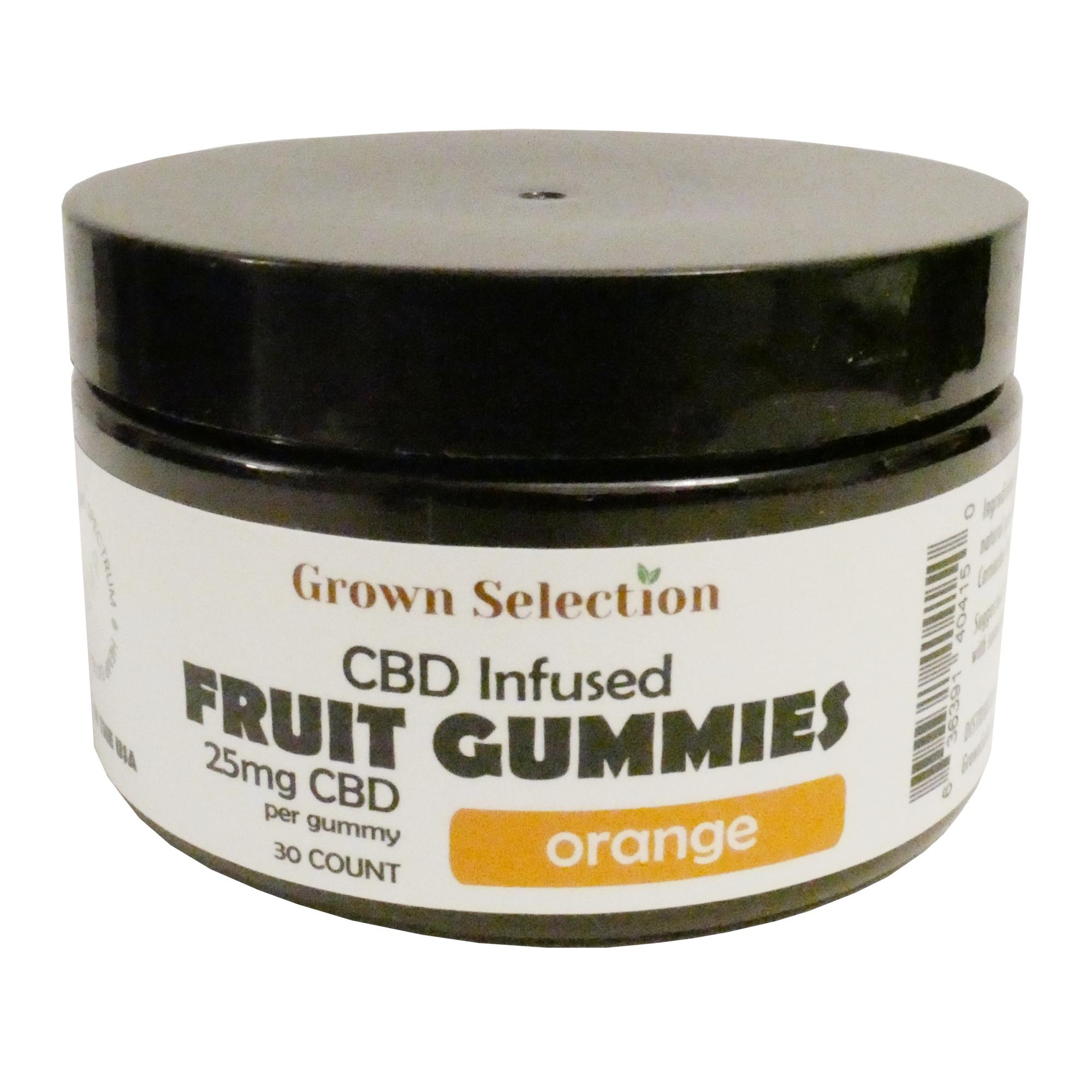 orange CBD gummies, 25mg, 30ct