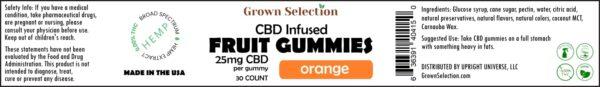 Orange CBD gummies