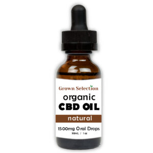organic natural CBD oil tincture, 1500mg, 30mL, 1oz