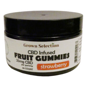 strawberry CBD gummies, 25mg, 30ct