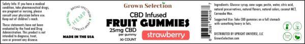 Strawberry CBD gummies